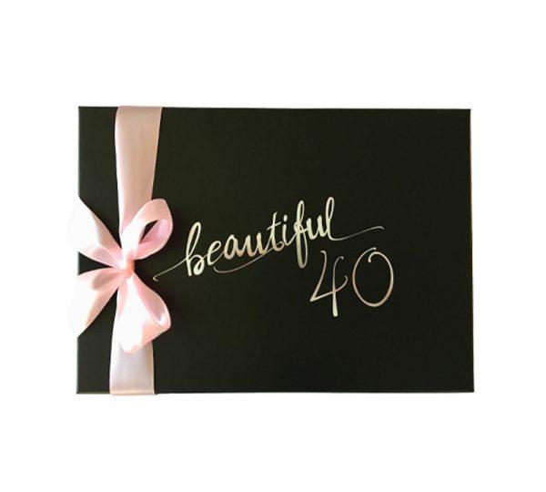 Geburtstagsgeschenk Frau 40 Box-Deckel