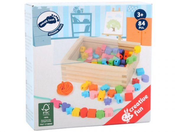Geschenk Kinder Fädelspiel Verpackung