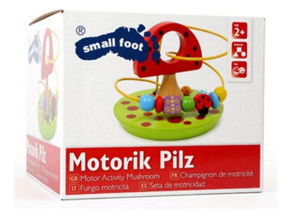 Geschenk Kinder Motorikschleife Pilz Verpackung