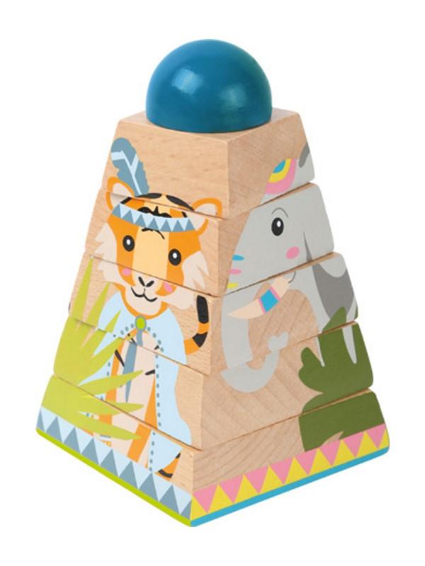 Geschenk Kinder Stapelturm Jungle