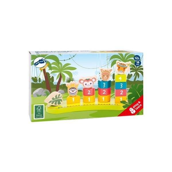 Geschenk Kinder Steckspiel Zahlen Verpackung