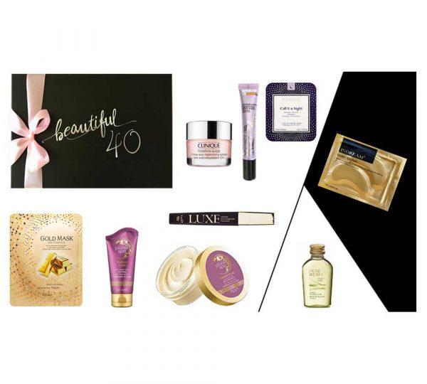 Geburtstagsgeschenk Frau beautiful 40 SPA DELUXE Produkte